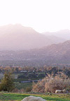 Chief Peak overlooks Ojai, California